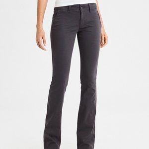 AMERICAN EAGLE • Gray Stretch Dress Pants